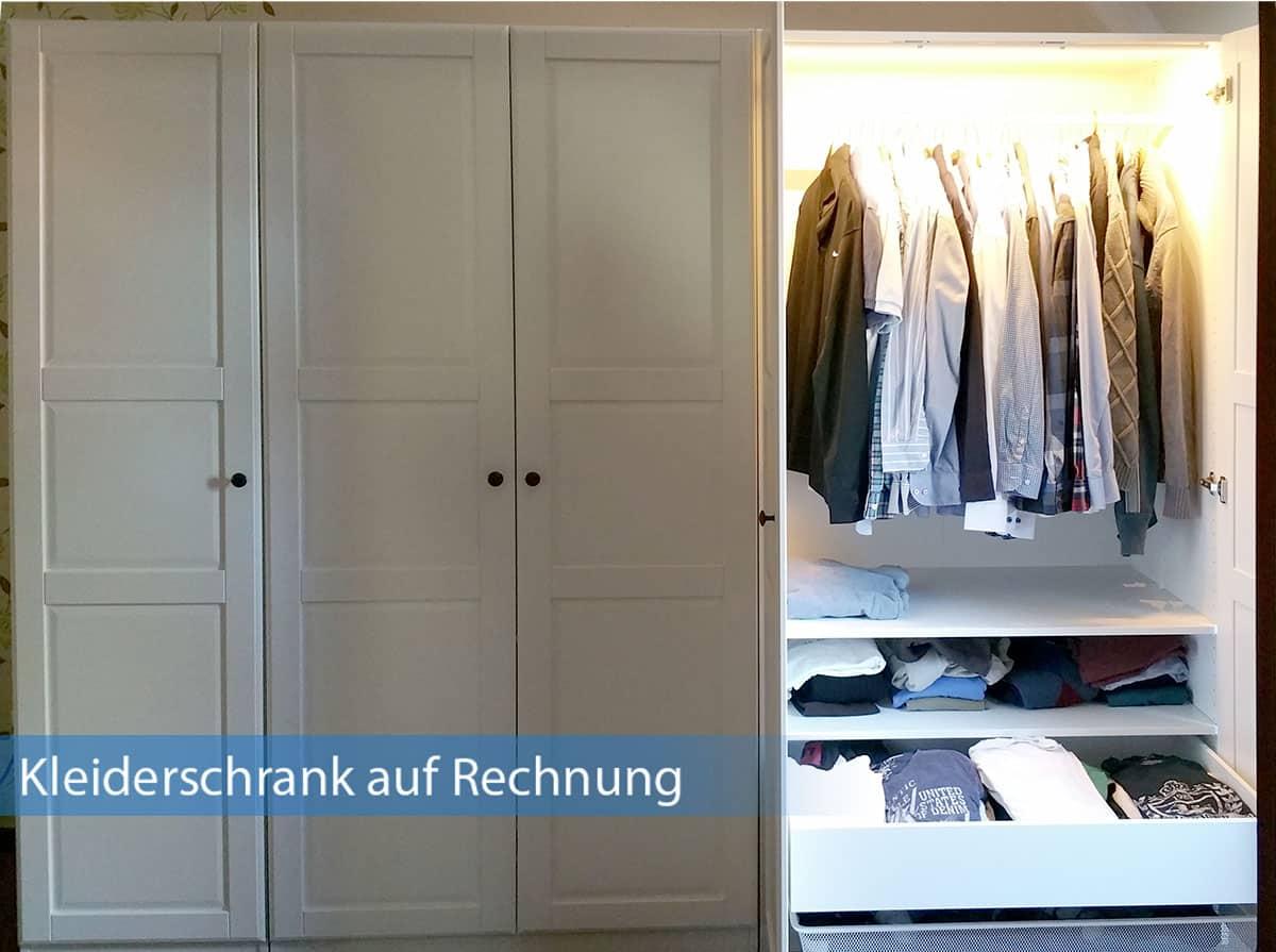 Kleiderschrank auf Rechnung kaufen - einfach, sicher und bequem!
