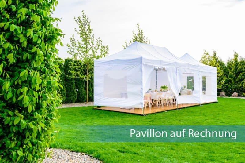 Pavillon auf Rechnung