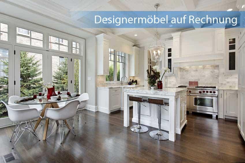 Designermöbel auf Rechnung im Wohnzimmer