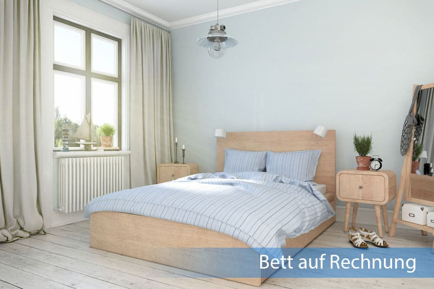 bett auf rechnung. Black Bedroom Furniture Sets. Home Design Ideas