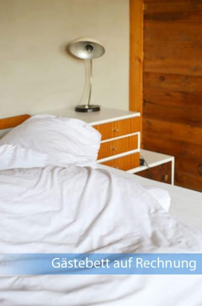 Gästebett auf Rechnung