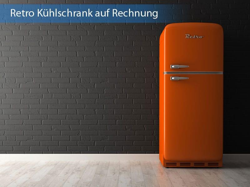 Retro Kühlschrank auf Rechnung