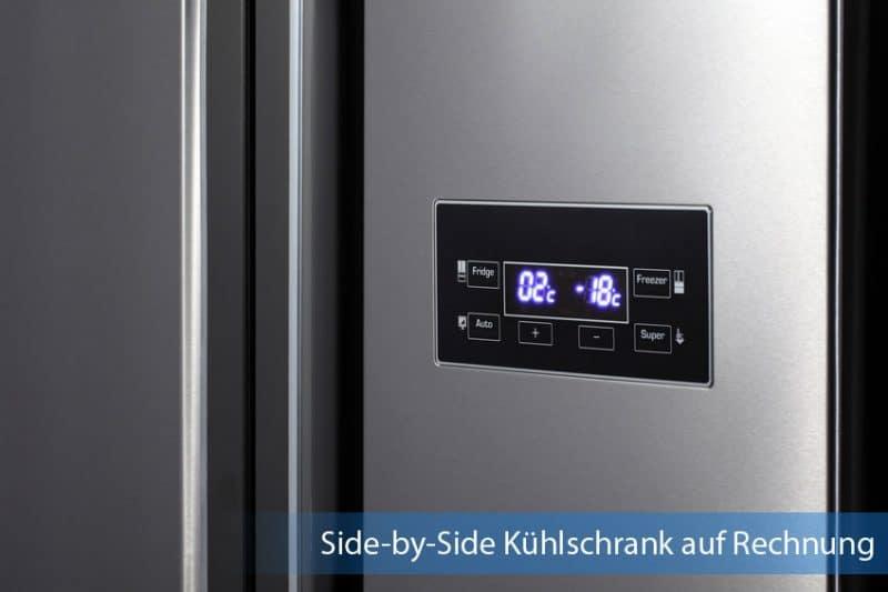 Side-by-Side Kühlschrank auf Rechnung