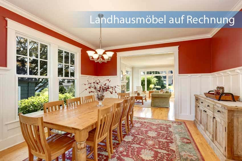 Landhausmöbel auf Rechnung in gemütlichen Esszimmer